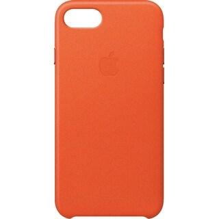 Apple - iPhone® 8/7 Leather Case - Bright Orange