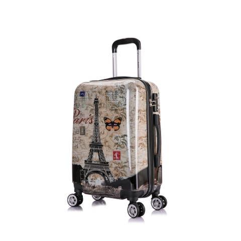 InUSA Paris Prints Lightweight Hardside Spinner 20 inch Carry-on