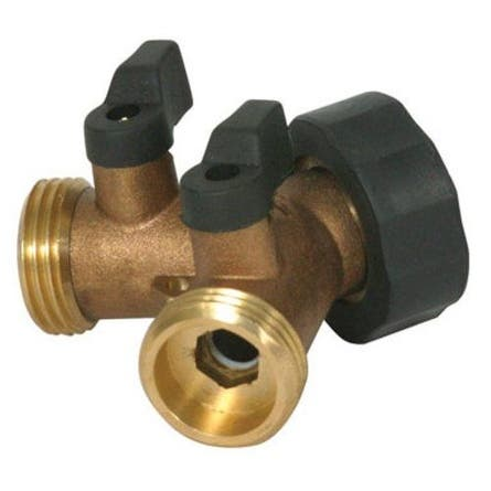 Camco 20123 Y Shut Off Valve Hose Valve, Brass