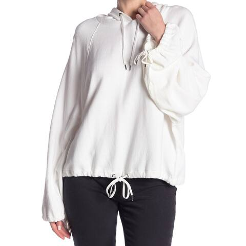 Splendid White Women's Size XS Hooded Drawstring-Hem Sweater
