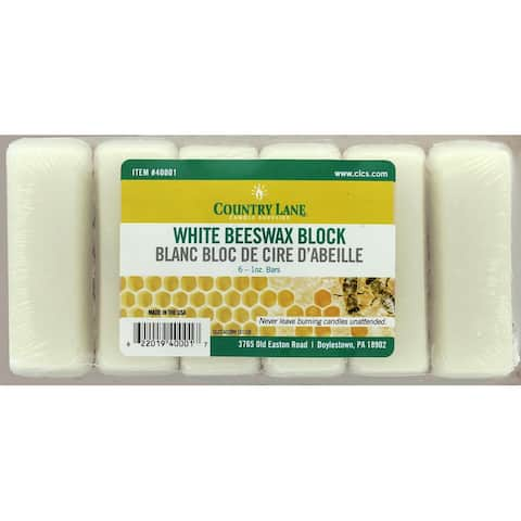 Country Lane Beeswax Bars 6-1oz White