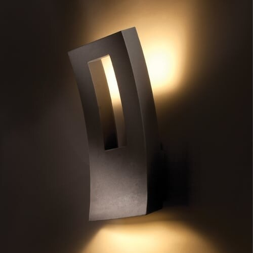 "Modern Forms WS-W2216 Dawn 16"" Indoor/Outdoor Dimmable LED Wall Light"