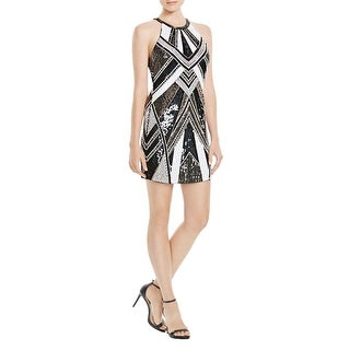 Parker Womens Cocktail Dress Embellished Sleeveless - S