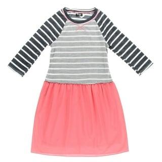 2 Hip Girls Striped Casual Dress - L