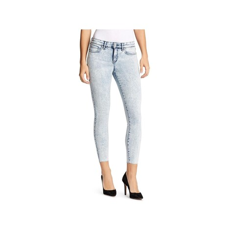 William Rast Womens Skinny Jeans Acid Wash Low Rise