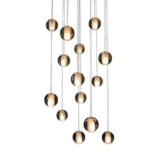 Link to Strick & Bolton Stiles 14-light Floating Glass LED Chandelier Similar Items in Chandeliers
