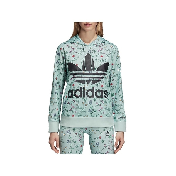 59739a813825 Shop adidas Originals Womens Hoodie Floral Print Logo - S - Free Shipping  On Orders Over  45 - Overstock - 26062956