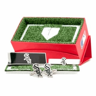 Chicago White Sox Cufflinks, Money Clip and Tie Bar Gift Set MLB