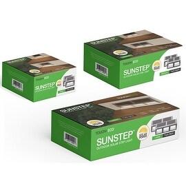 SUNSTEP (2 Pack) Solar Stainless Steel Step Light Bright Perimeter / Garden lighting