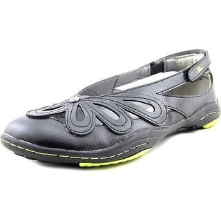 JBU by Jambu Juniper Women Open-Toe Synthetic Black Flats