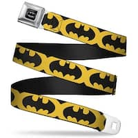 Batman Full Color Black Silver Black Bat Signal 5 Black Yellow Black Seatbelt Belt