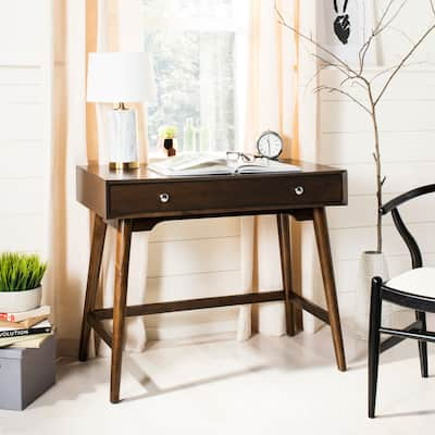 SAFAVIEH Isadora Mid-Century Walnut Modern Desk