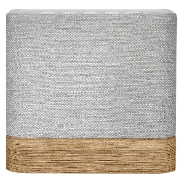 Knit KW51 Cube Portable Wireless Bluetooth Speaker - Light Gray, Wood Grain
