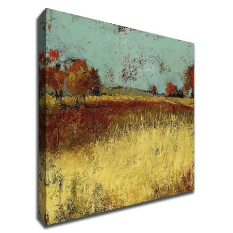 Country Side No. 2 by Linda Nickell With Hand Painted Brushstrokes, Print on Canvas