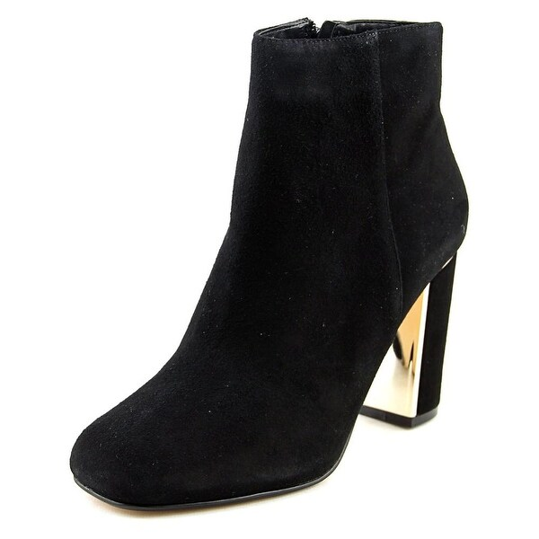 Dune London Otta Women Square Toe Suede Black Ankle Boot