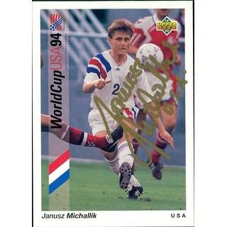 Signed Michallik Janusz 1993 Upper Deck Soccer Card autographed