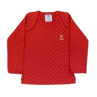 Baby Shirt Unisex Polka Dot Long Sleeve Tee Infant Pulla Bulla Sizes 0-18 Months