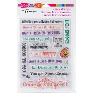 """Stampendous Perfectly Clear Stamps 7.25""""X4.625""""-Spooky Wishes"""