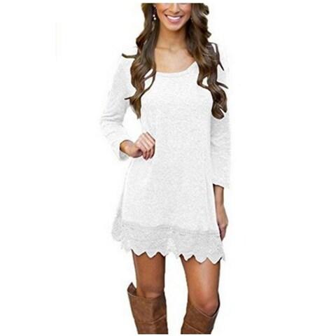 Stitching Lace Hem Dress