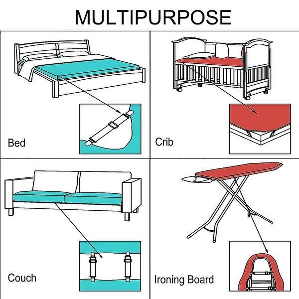 Bed Sheet Clip 3-Way Adjustable Mattress Holder Fastener Gripper W