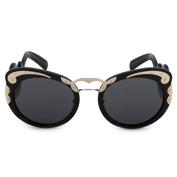 7dde426dfd12 Shop Prada Minimal Baroque Butterfly Sunglasses PR07TS 1AB1A1 54 ...