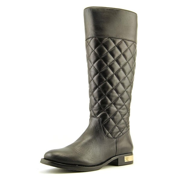 Vince Camuto Foxey 2 Women Round Toe Leather Black Knee High Boot