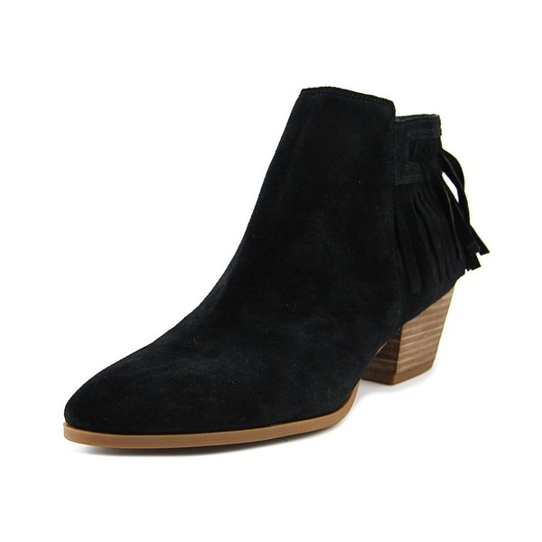 Franco Sarto Gerri Women Round Toe Suede Black Ankle Boot