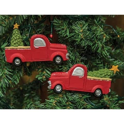 2/Set Christmas Truck Ornaments