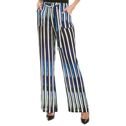 Nicole Miller Artelier Silk-Blend Pant