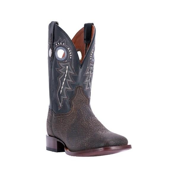 Dan Post Western Boots Mens Badlands Bison Embroidered Black