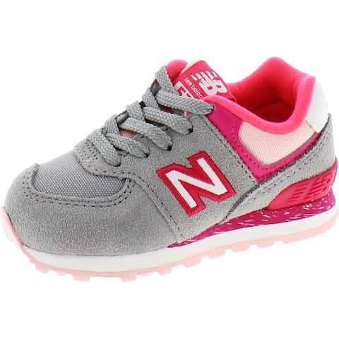 New Balance Girls Sneakers Toddler Suede - Gray/Pink