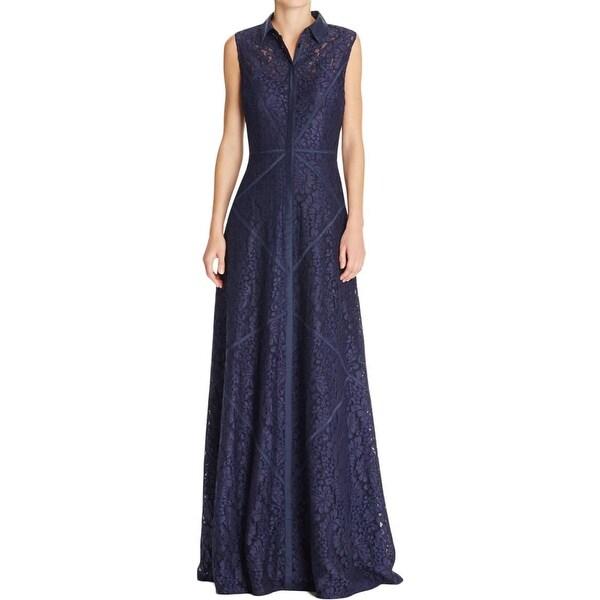 Aidan Mattox Womens Evening Dress Lace Applique