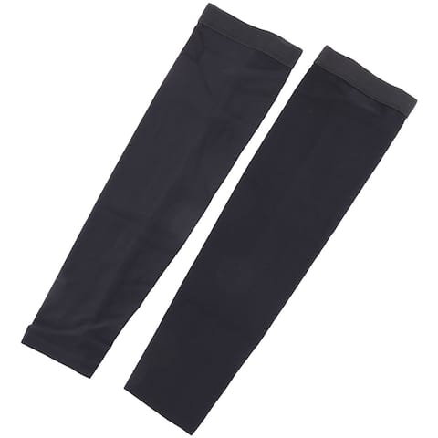 Outdoor Polyester Anti-UV Stretchy Arm Sleeve Cover Protection Black Size M Pair