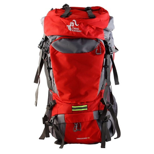 FreeKnight Authorized Large Capacity Travel Pack Hiking Camping Backpack Red