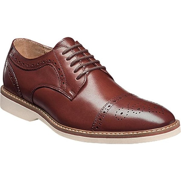 5da246cb430 Shop Florsheim Men s Union Cap Toe Oxford Brown Leather - Free Shipping  Today - Overstock.com - 14047399