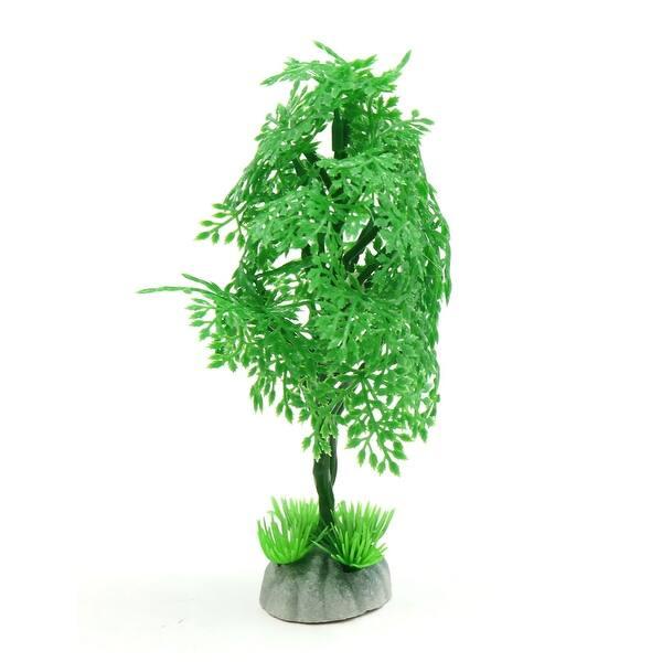 Green Plastic Tree Aquarium Fish Tank Waterscape Ornament Home Decor 6 1inch On Sale Overstock 29401789