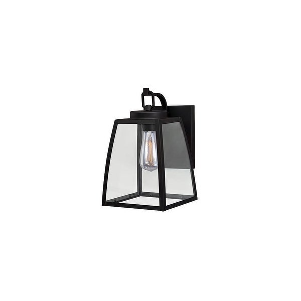 Vaxcel Lighting T0209 Granville 1-Light Outdoor Wall Sconce with Clear Glass Shade - oil burnished bronze - n/a