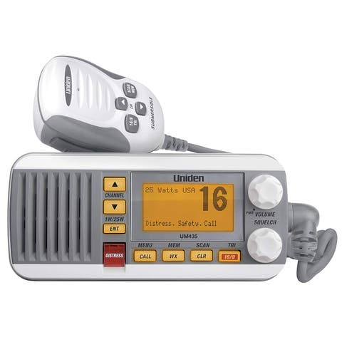 Uniden UM435 Fixed Mount VHF Radio - White UM435 Fixed Mount VHF Radio - White