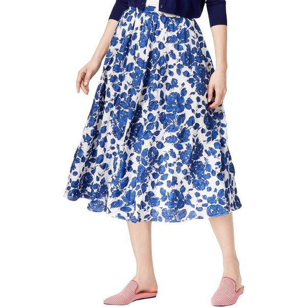 e8b1d89090 Shop Weekend MaxMara Womens Midi Skirt Floral Print A-Line - 8 - Free  Shipping Today - Overstock - 25363370