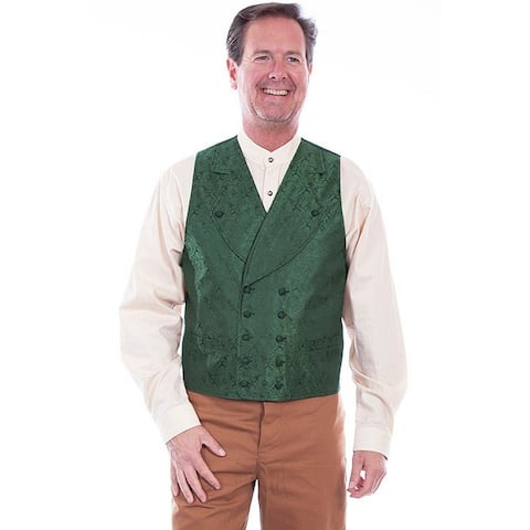 Scully Western Vest Mens Double Breasted Wide Lapel Button