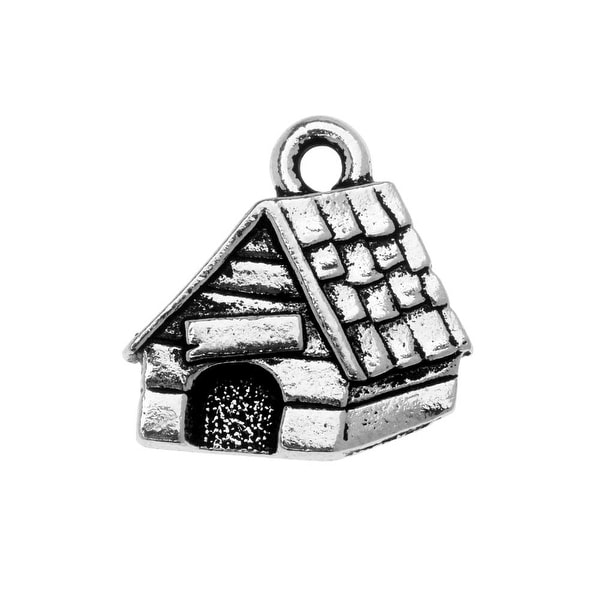 TierraCast Charm, Dog House 15x15.5mm, 1 Piece, Antiqued Silver Plated. Opens flyout.