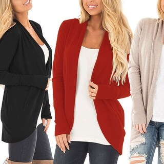 Knit Draped Cardigan in 3 colors