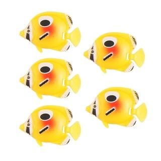 Unique Bargains Tank Aquarium Emulational Plastic Floating Fish Yellow