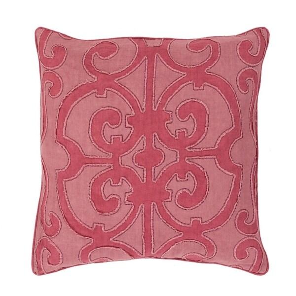 "20"" Princess Dreams Wine and Mauve Purple Decorative Throw Pillow Wine and Mauve Purple Throw Pillow - Down Filler"