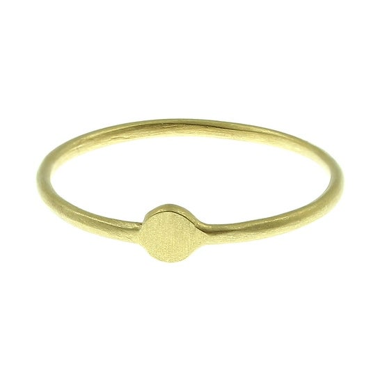 Dogeared Smooth Circle Ring