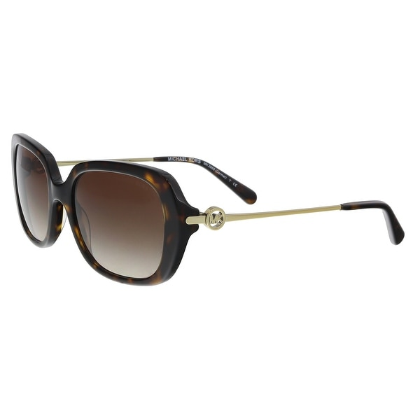 2255a510ef9da Shop Michael Kors MK2065 300613 Dark Tort Rectangle Sunglasses - 54 ...