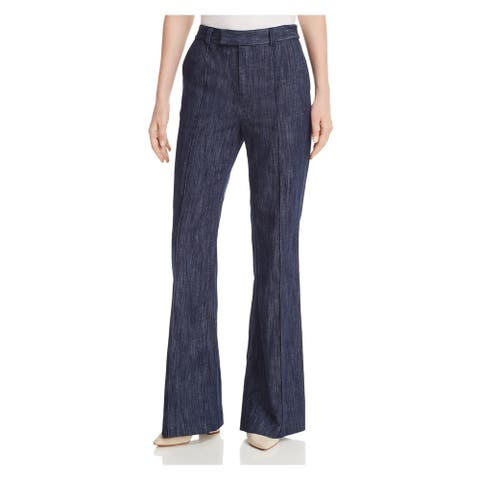 JOIE Womens Blue Zippered Flare Pants Size 0