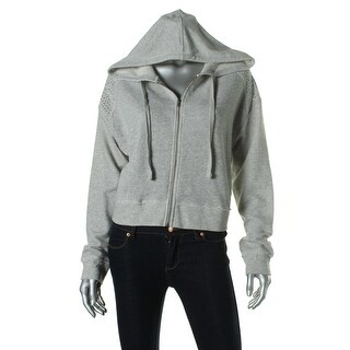 Guess Womens Heathered Crop Hoodie
