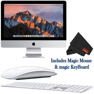 Apple iMac MNDY2LL/A 21.5 Inch, 3.0GHz Intel Core i5, 8GB RAM, 1TB HDD, (Silver) 2017 Model Bundle - silver
