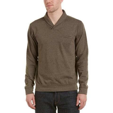 Splendid Mills Mens Sweaters Oak Green Size XL Shawl Collar Pullover